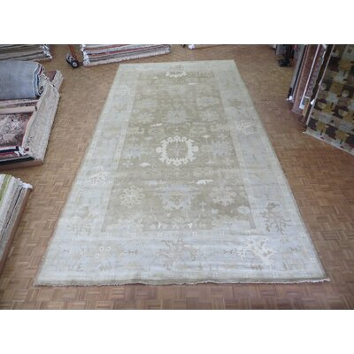 One-of-a-Kind Pellegrino Turkish Oushak Hand-Knotted Wool Soft Brown Area Rug