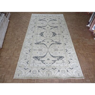 One-of-a-Kind Pellegrino Turkish Oushak Hand-Knotted Wool Ivory Area Rug