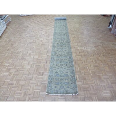 One-of-a-Kind Pellegrino Oushak Hand-Knotted Silk Beige Area Rug