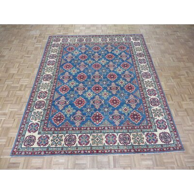 One-of-a-Kind Padula Tribal Hand-Knotted Wool Blue Area Rug