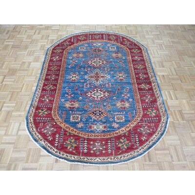 One-of-a-Kind Padula Super Tribal Hand-Knotted Blue Area Rug
