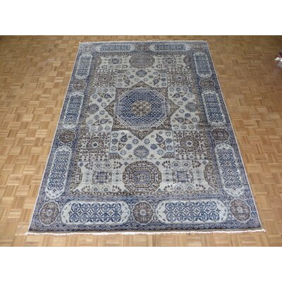 One-of-a-Kind Pagan Hand-Knotted Cotton Beige/Blue Area Rug