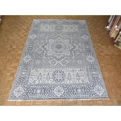 One-of-a-Kind Pagan Hand-Knotted Gray Area Rug