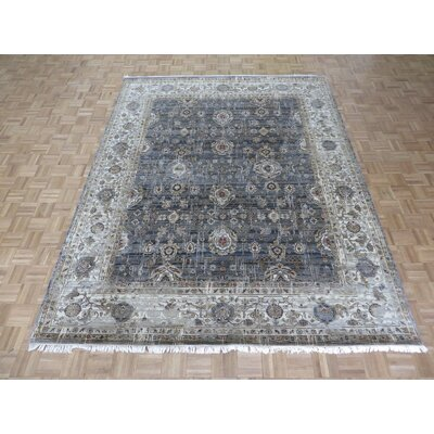 One-of-a-Kind Rhyne Hand-Knotted Cotton Gray Area Rug