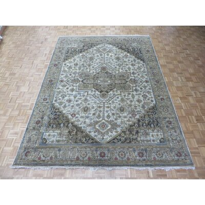 One-of-a-Kind Rhyne Hand-Knotted Ivory/Brown Area Rug