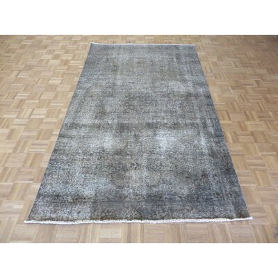 One-of-a-Kind Padro Hand-Knotted Wool Gray Area Rug Rug Size: Rectangle 54 x 91