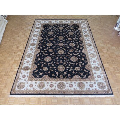 One-of-a-Kind Rhyne Hand-Knotted Wool Black Area Rug