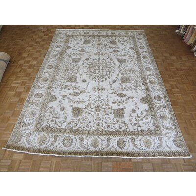 One-of-a-Kind Padro Hand-Knotted Beige/Brown Area Rug