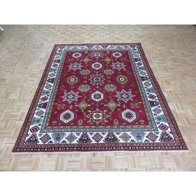 One-of-a-Kind Padula Tribal Hand-Knotted Wool Red Area Rug