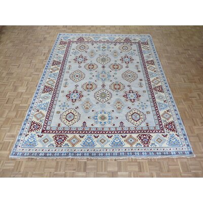 One-of-a-Kind Padula Tribal Hand-Knotted Wool Aqua Blue Area Rug
