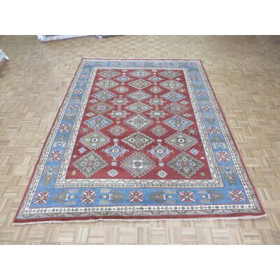 One-of-a-Kind Padula Tribal Hand-Knotted Wool Red/Blue Area Rug