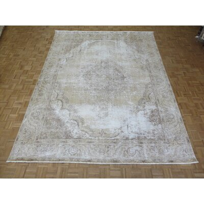One-of-a-Kind Padro Hand-Knotted Wool Light Gold Area Rug