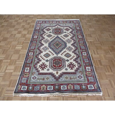 One-of-a-Kind Padula Tribal Hand-Knotted Wool Ivory Area Rug