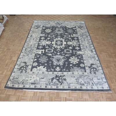 One-of-a-Kind Rhyne Oushak Hand-Knotted Wool Gray Area Rug