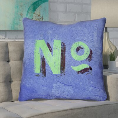 Enciso Graphic Square Indoor Wall Euro Pillow Color: Blue/Green