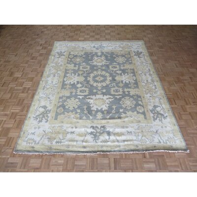 One-of-a-Kind Josephson Oushak Hand-Knotted Silver/Blue Area Rug Rug Size: Rectangle 81 x 911