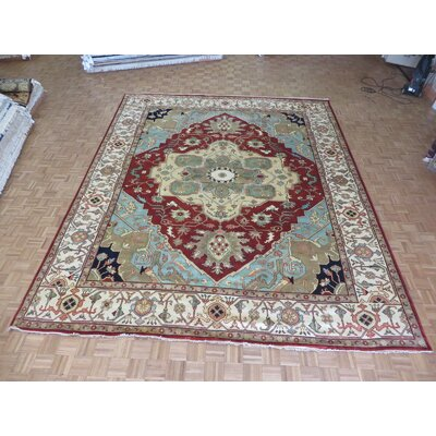 One-of-a-Kind Padro Heriz Hand-Knotted Red/Beige Area Rug