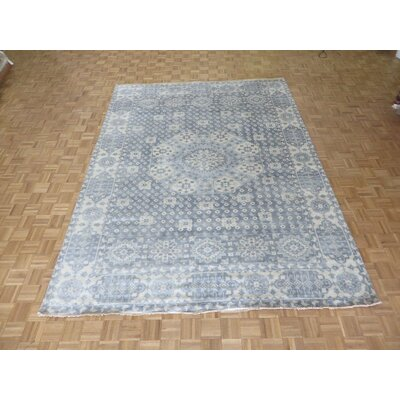 One-of-a-Kind Pagan Heriz Hand-Knotted Wool Gray Area Rug