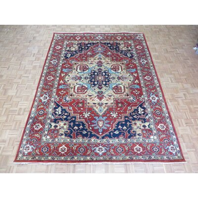 One-of-a-Kind Padro Heriz Hand-Knotted Wool Brick Red Area Rug