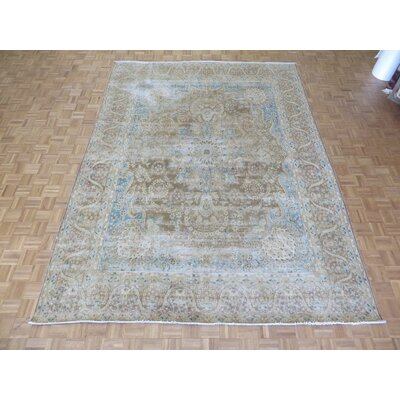 One-of-a-Kind Padro Kerman Hand-Knotted Wool Brown Area Rug