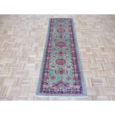 One-of-a-Kind Padula Hand-Knotted Silk Light Green Area Rug