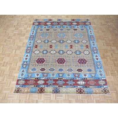 One-of-a-Kind Pafford Oushak Hand-Knotted Wool Tan Area Rug