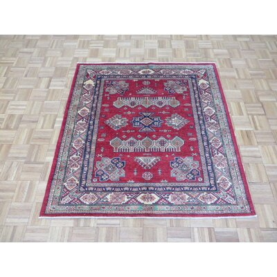 One-of-a-Kind Padula Shirvan Hand-Knotted Wool Red Area Rug