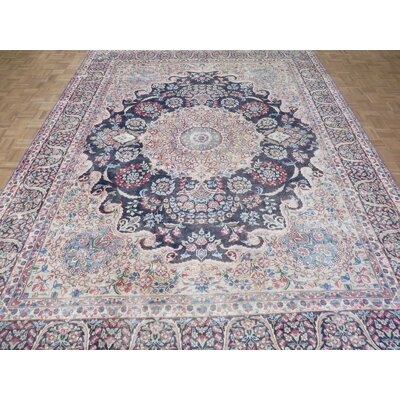 One-of-a-Kind Padro Hand-Knotted Sky Blue Area Rug