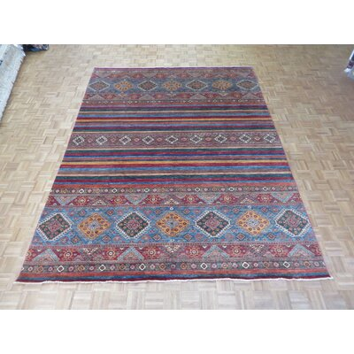 One-of-a-Kind Padula Tribal Hand-Knotted Wool Red/Green Area Rug