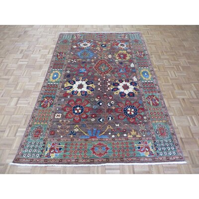One-of-a-Kind Railsback Hand-Knotted Wool Brown Area Rug