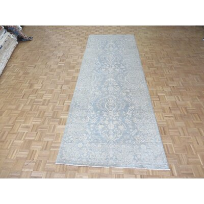 One-of-a-Kind Railsback Oushak Hand-Knotted Wool Silver/Blue Area Rug