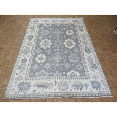 One-of-a-Kind Rhyne Oushak Ushak Hand-Knotted Wool Silver/Gray Area Rug