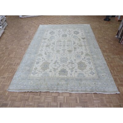 One-of-a-Kind Emerystone Hand-Knotted Wool Ivory Area Rug