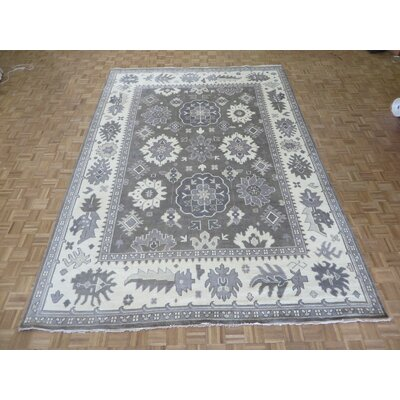 One-of-a-Kind Josephson Oushak Ushak Hand-Knotted Wool Light Brown Area Rug