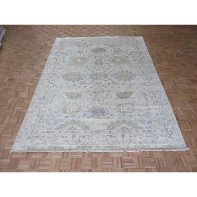 One-of-a-Kind Emerystone Oushak Hand-Knotted Wool Beige Area Rug