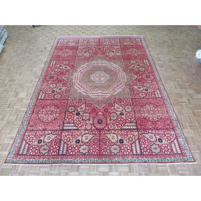 One-of-a-Kind Pagan Hand-Knotted Wool Red Area Rug