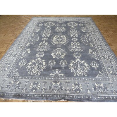 One-of-a-Kind Josephson Oushak Ushak Hand-Knotted Wool Gray Area Rug Rug Size: Rectangle 89 x 1110