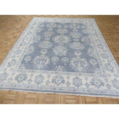 One-of-a-Kind Josephson Oushak Ushak Hand-Knotted Silver/Blue Area Rug Rug Size: Rectangle 710 x 99
