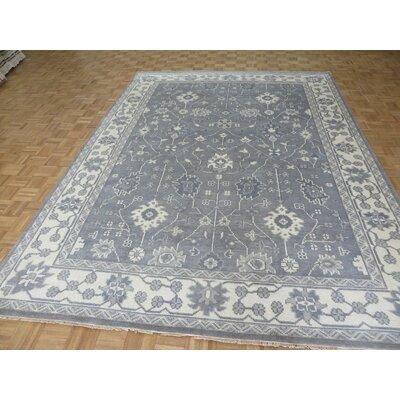 One-of-a-Kind Josephson Oushak Ushak Hand-Knotted Wool Gray Area Rug Rug Size: Rectangle 710 x 910