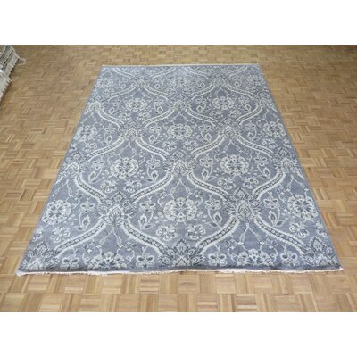One-of-a-Kind Josephson Oushak Ushak Hand-Knotted Gray Area Rug