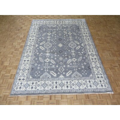 One-of-a-Kind Josephson Oushak Ushak Hand-Knotted Wool Gray Area Rug