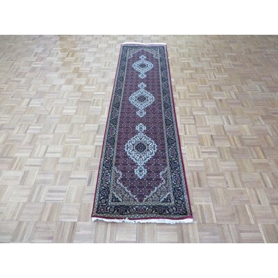 One-of-a-Kind Rhyne Hand-Knotted Red Area Rug Rug Size: Runner 27 x 10