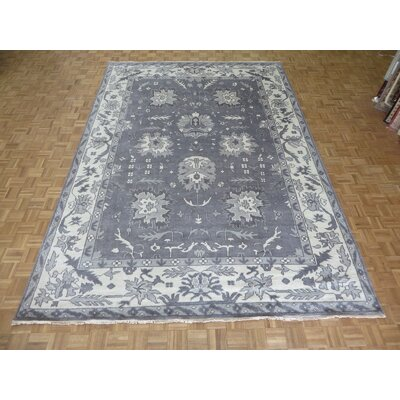 One-of-a-Kind Josephson Oushak Ushak Hand-Knotted Silver/Gray Area Rug