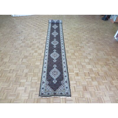 One-of-a-Kind Raiden Hand-Knotted Black Area Rug