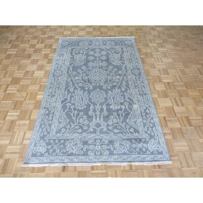 One-of-a-Kind Sherika Oushak Ushak Hand-Knotted Wool Gray Area Rug