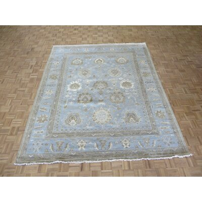 One-of-a-Kind Emerystone Hand-Knotted Sky Blue Area Rug