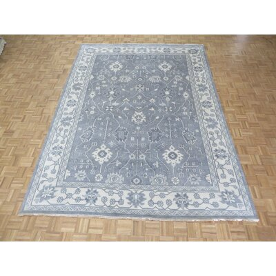 One-of-a-Kind Josephson Oushak Ushak Hand-Knotted Wool Silver/Gray Area Rug