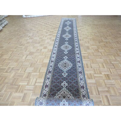 One-of-a-Kind Raiden Hand-Knotted Blue Area Rug