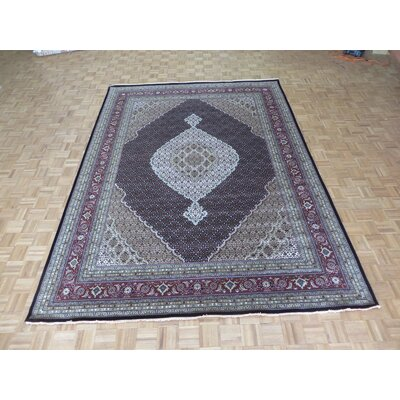 One-of-a-Kind Padro Hand-Knotted Wool Black Area Rug Rug Size: Rectangle 9 x 12