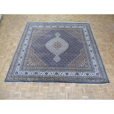One-of-a-Kind Raiden Hand-Knotted Wool Blue Area Rug Rug Size: Square 10 x 10